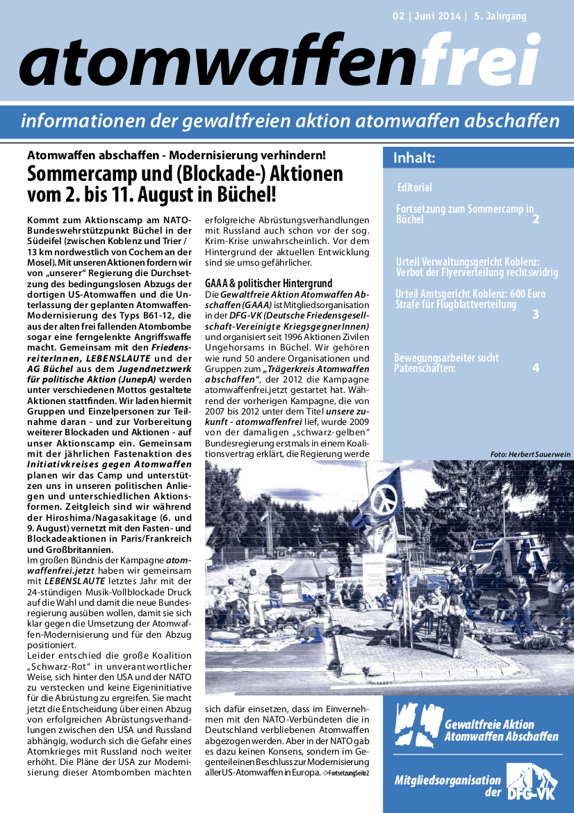 atomwaffenfrei 2 - 2014 Seite1