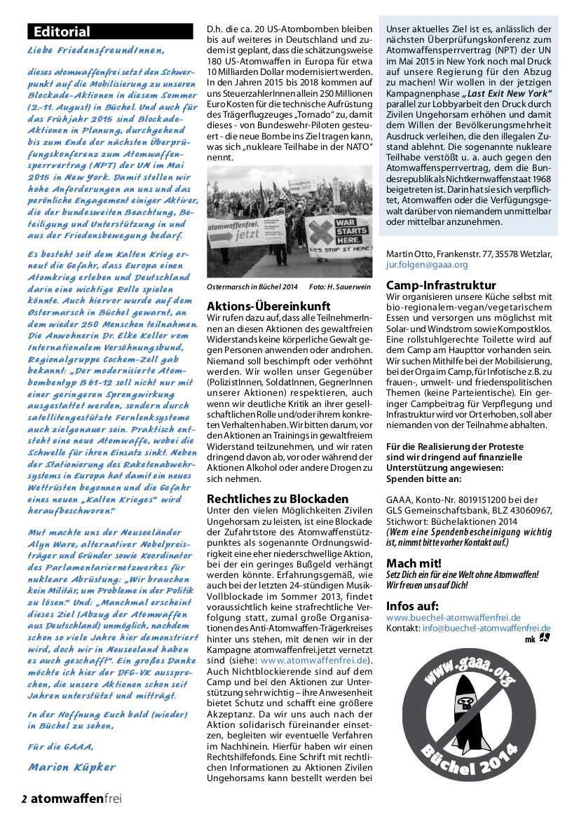 atomwaffenfrei 2 - 2014 Seite2