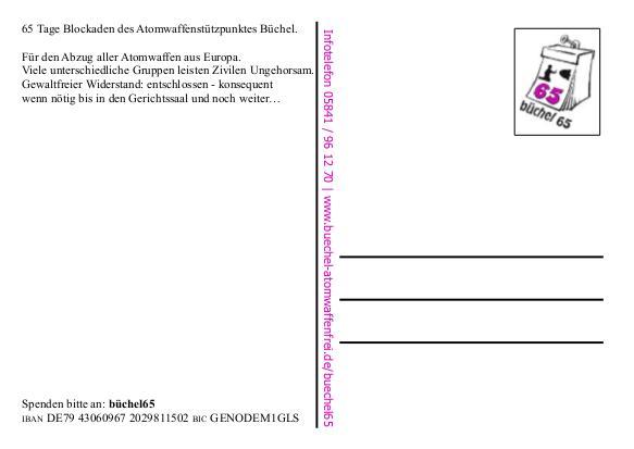 Postkarte büchel65 Rücks